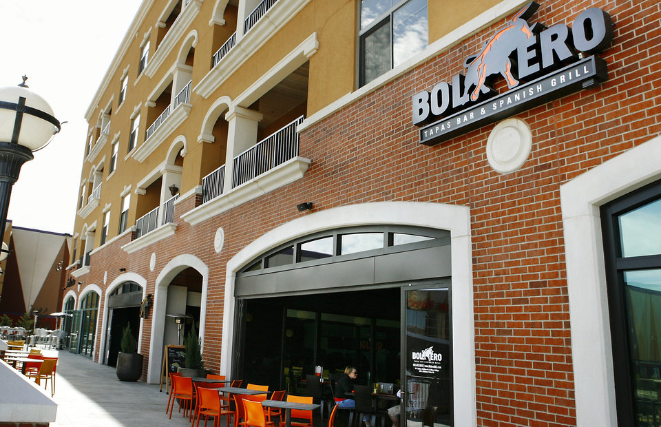 FILE - Exterior of Bolero Tapas Bar & Spanish Grill on the Bricktown Canal Friday afternoon, Feb. 13, 2009.  BY JIM BECKEL, THE OKLAHOMAN