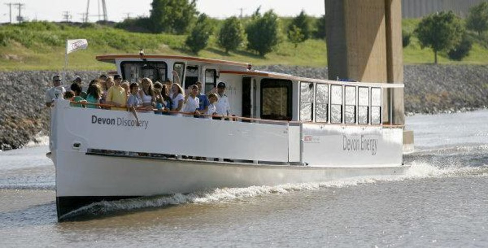 The Oklahoma River Cruisers, shown in this 2008 photo, carried thousands of passengers during the first year operation but have seen diminished ridership ever since.  <strong>BRYAN TERRY - THE OKLAHOMAN</strong>