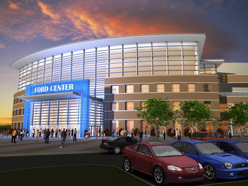 Photo - RENDERING, RENOVATE: A look at what the Ford Center might look like after renovations.    ORG XMIT: 0801012146144182