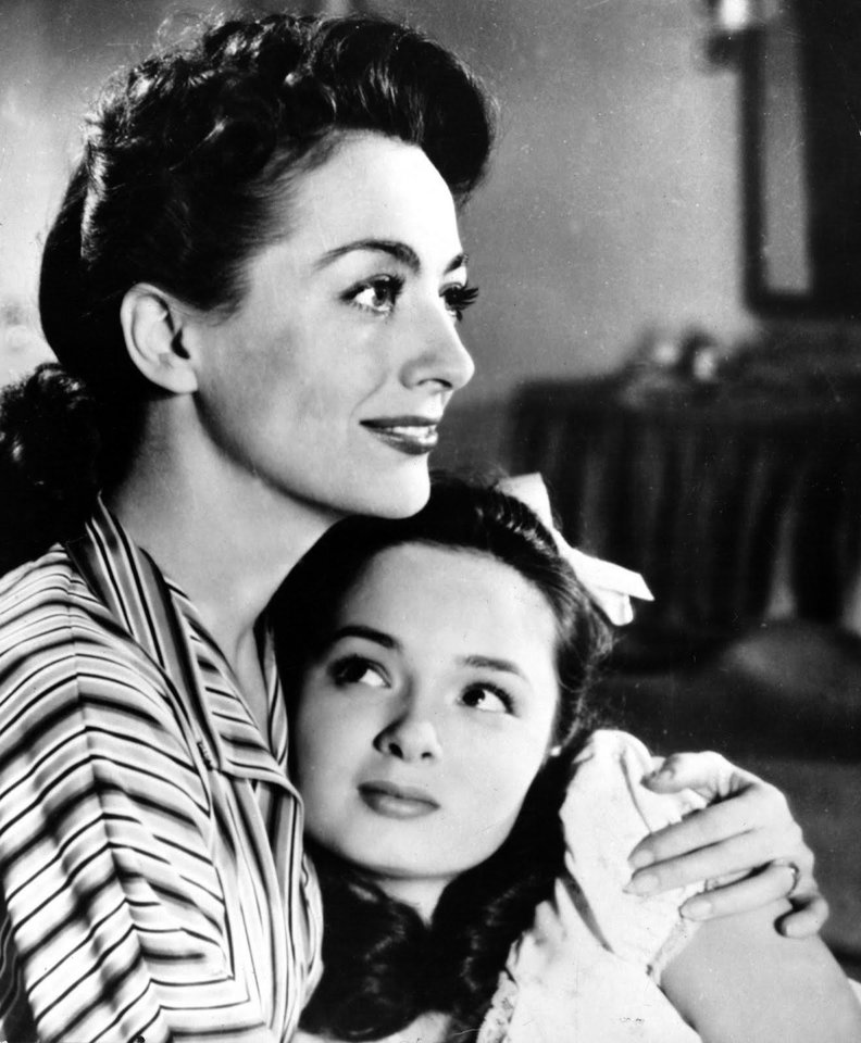 Photo -       Joan Crawford and Ann Blyth in