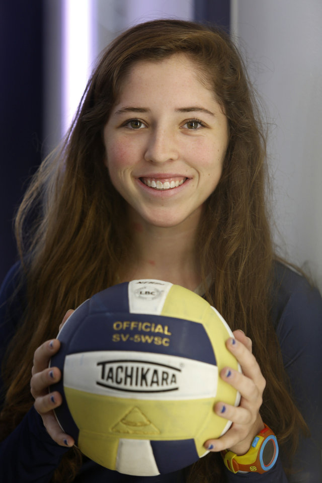 Photo - Carter Cloud, Heritage Hall volleyball player in Oklahoma City, Thursday  October 11, 2012. Photo By Steve Gooch, The Oklahoman  Steve Gooch - The Oklahoman