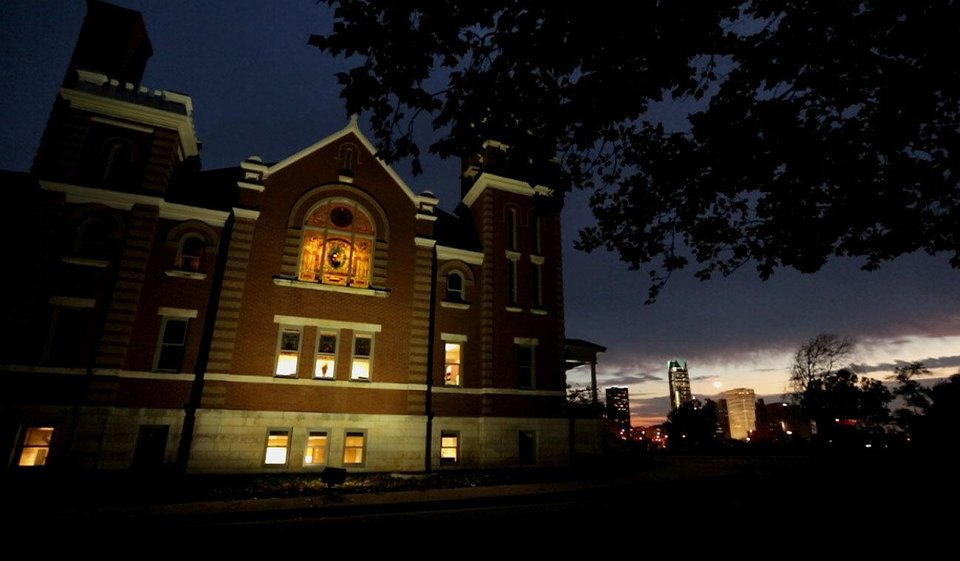 The Oklahoma Commerce Department is haunted, several employees claim. The agency is located at 900 N Stiles near downtown Oklahoma City in a renovated church. Photo by TANNER HERRIOTT, The Oklahoman