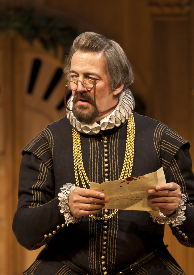 Photo -   In this image provided Monday Nov. 19, 2012 by Sonia Friedman Productions, Stephen Fry, as the character Malvolio, during a dress rehearsal in