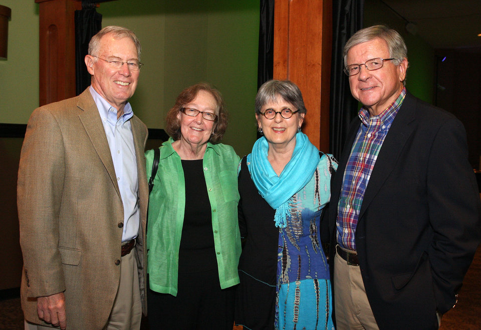 Photo - Phil Horning, Robin Johnson, Marian Horning, Steve Craven. PHOTO BY DAVID FAYTINGER, FOR THE OKLAHOMAN