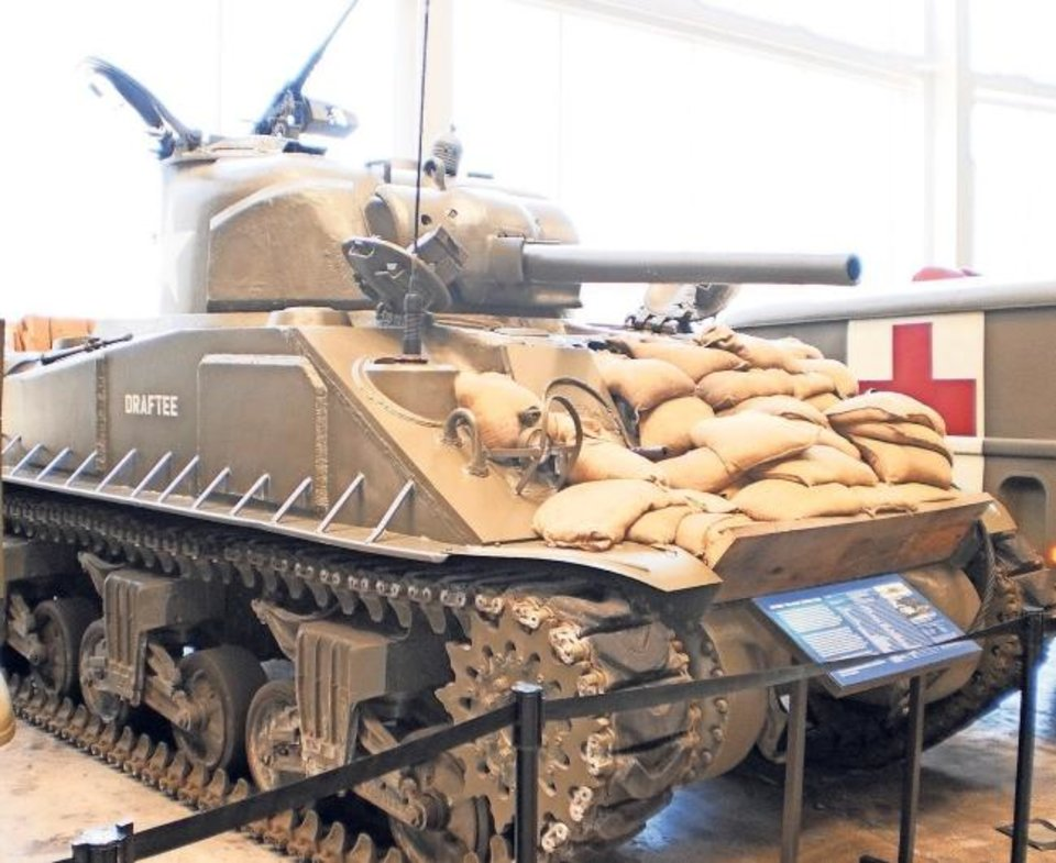 Photo -  A Sherman Tank is on display at The National WWII Museum in New Orleans. [Provided]