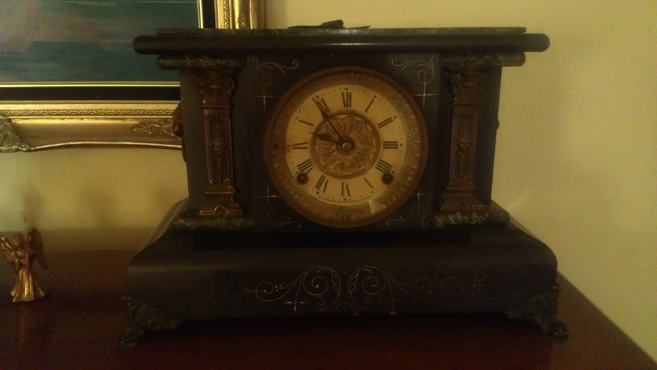 Photo - Antique clock photo by Marni Jameson.