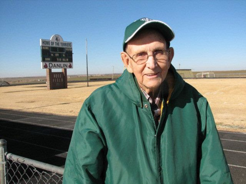 Former Thomas All-State football player and Hall of Fame coach Kenneth Roof. Photo by Ed Godfrey,  The Oklahoman