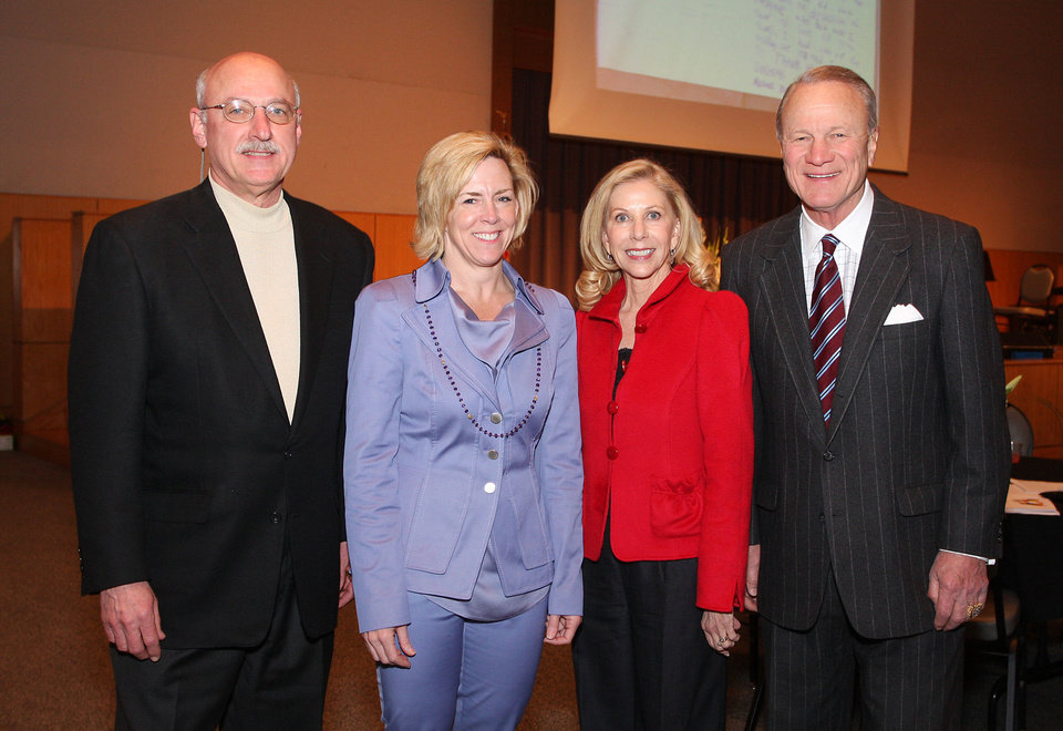 James Pickel, Tricia Everest, Becky and Barry Switzer.  PHOTO BY DAVID FAYTINGER, FOR THE OKLAHOMAN