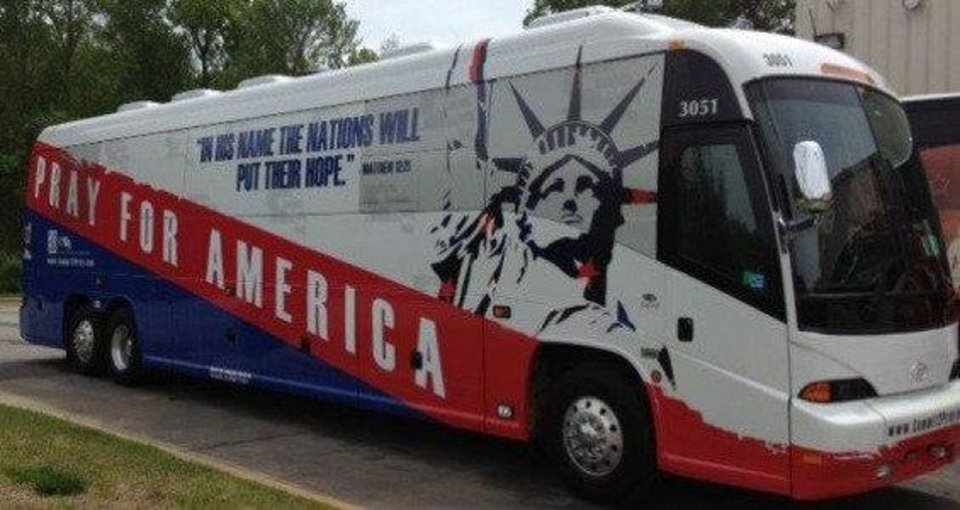 Photo - Pray for America bus. Photo provided