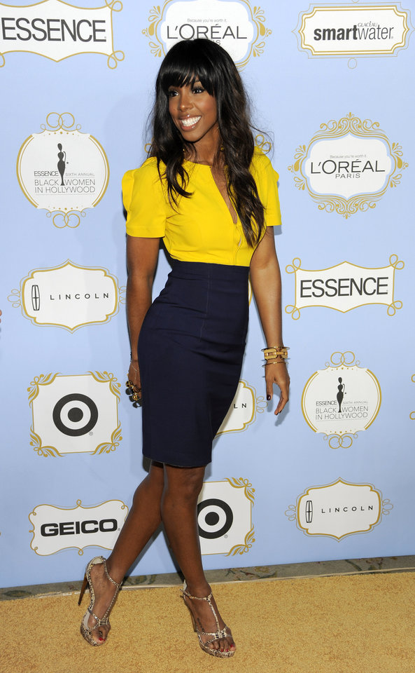 Photo - Singer Kelly Rowland arrives at the 6th Annual Black Women in Hollywood Luncheon at the Beverly Hills Hotel on Thursday, Feb. 21, 2013 in Los Angeles. (Photo by Chris Pizzello/Invision/AP)