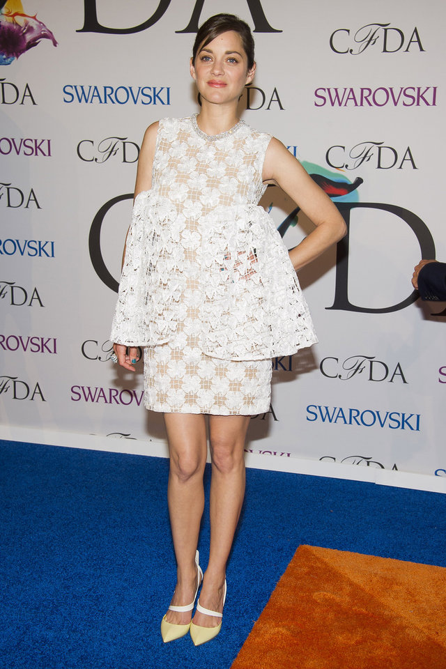 Photo - Marion Cotillard attends the CFDA Fashion Awards on Monday, June 2, 2014 in New York. (Photo by Charles Sykes/Invision/AP)