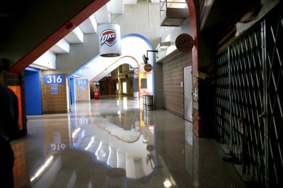 Photo -  More restrooms and elevators are proposed for Chesapeake Energy Arena.  [Sarah Phipps/The Oklahoman]