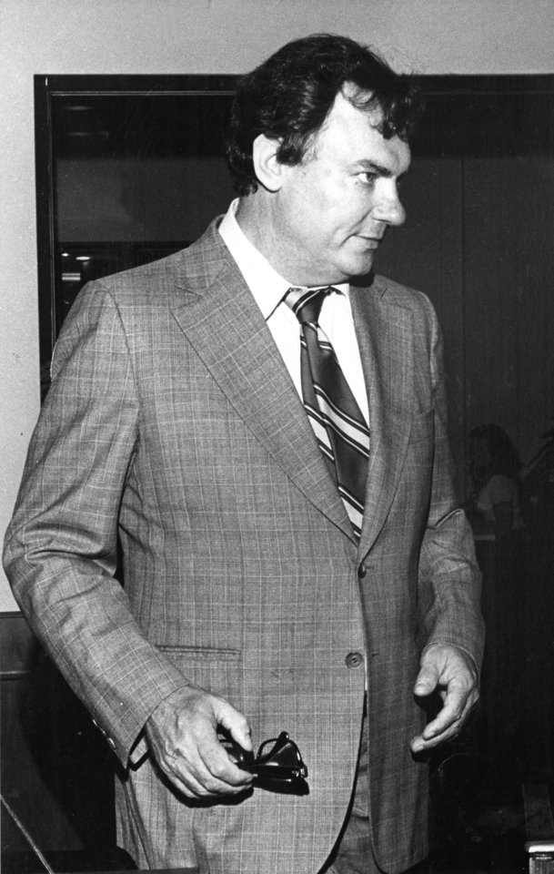 Photo - Black and white photo of State Sen. Gene Stipe, D-McAlester, taken in August, 1977. Staff photo by Don Tullous taken 8/15/77; photo ran in the 1/21/81 and 4/10/81 Daily Oklahomans.