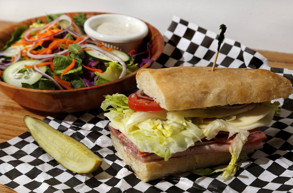 Photo -  Lunch at Scottie's Deli in Oklahoma City's Uptown 23rd district. [Photo by Jim Beckel, The Oklahoman]