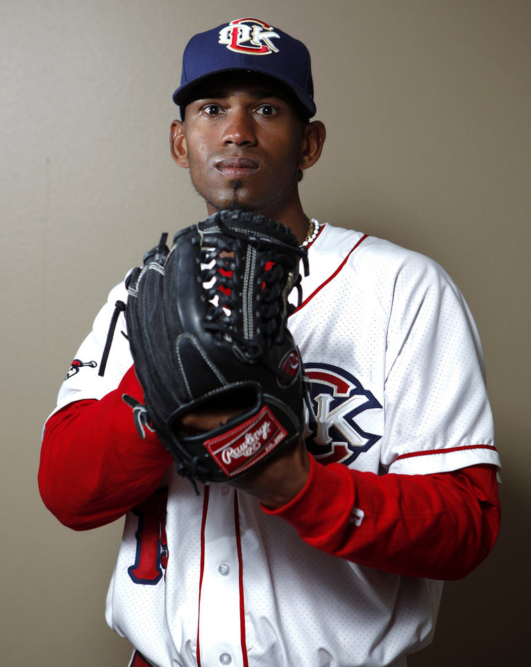 MINOR LEAGUE BASEBALL: Oklahoma City's Juan Abreu poses for a photograph during media day for the Oklahoma City RedHawks in Oklahoma City, Tuesday, April 3, 2012. Photo by Sarah Phipps, The Oklahoman