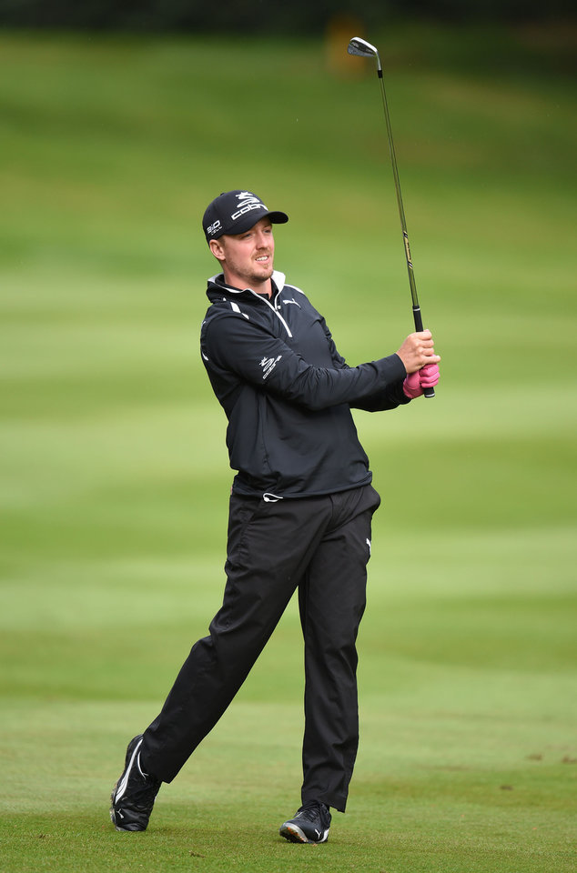 Photo - Sweden's Jonas Blixt  during day one of the BMW PGA Championship at the Wentworth Club,  Virginia Water England Thursday May 22, 2014. (AP PhotoAdam Davy/PA) UNITED KINGDOM OUT