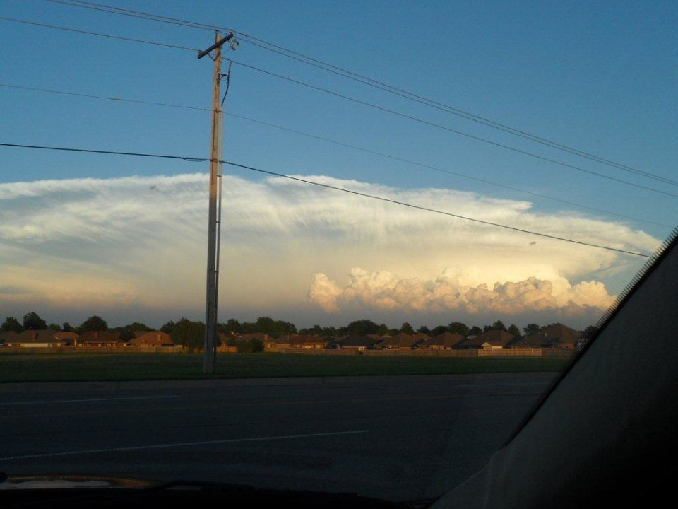 Mushroom cloud taken at 119th&South Penn looking toward Lake Thunderbird by Connie Gotowala 5-21-11 8:30 PM number 3