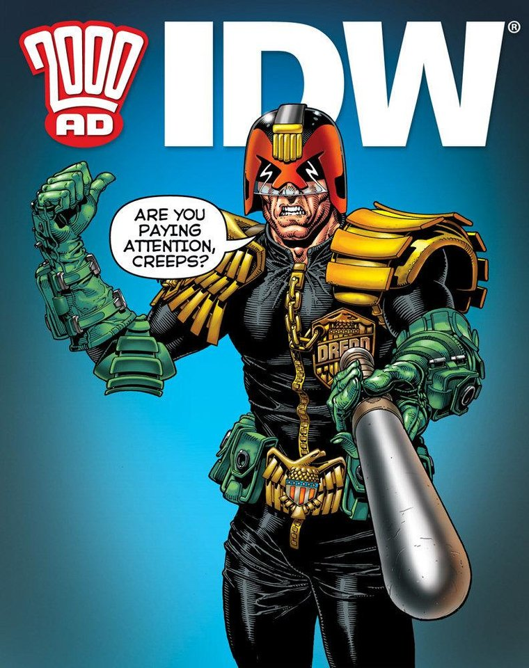 "Promotional art for ""Judge Dredd."" IDW Publishing. <strong></strong>"