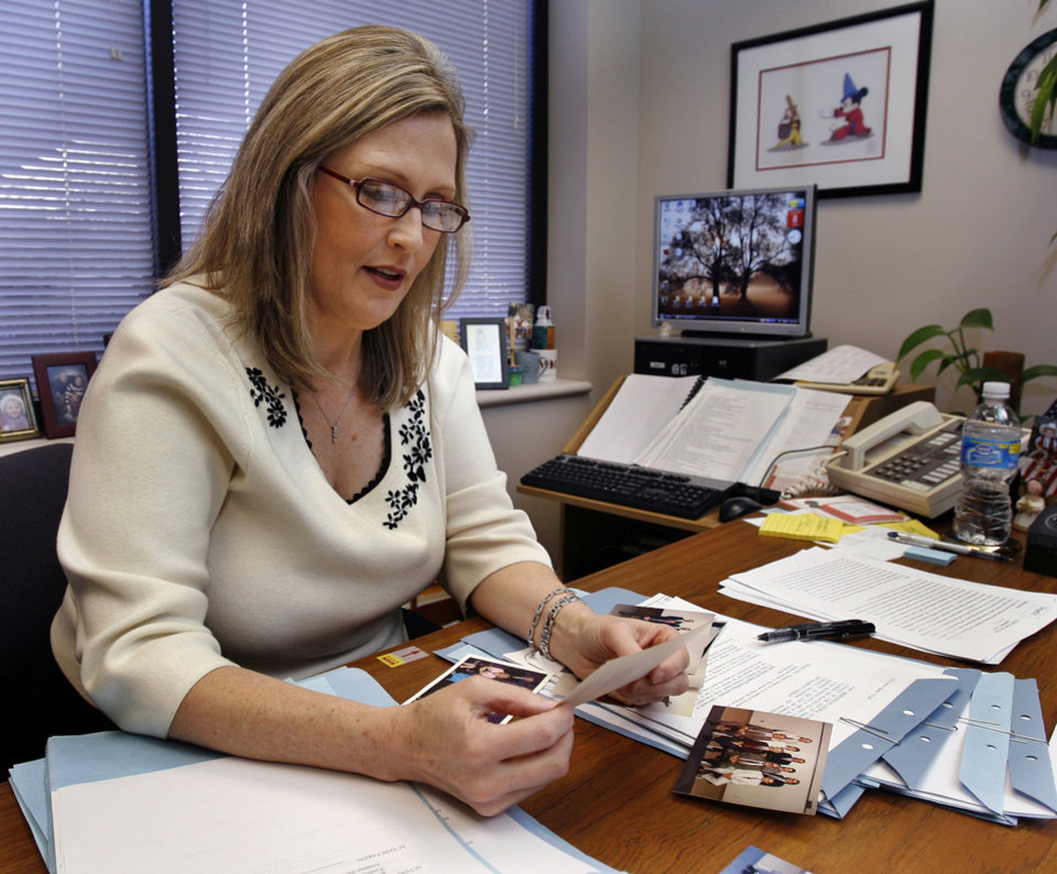 Brenda Hall works at her office in City Hall on Tuesday, Jan. 8, 2008, in Norman, Oklahoma.  Hall has been named Norman's new City Clerk to replace Mary Hatley who is retiring on Jan. 25.  BY STEVE SISNEY, THE OKLAHOMAN