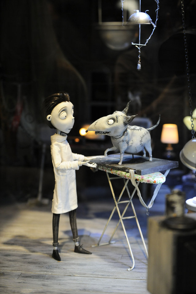 Figures on the set of of the Disney Tim Burton movie