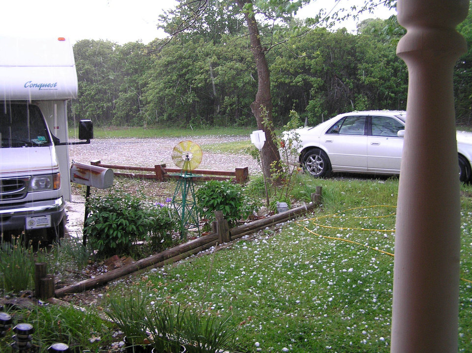 Hail Storm in Choctaw OK<br/><b>Community Photo By:</b> Viola Ogle<br/><b>Submitted By:</b> Liz, Choctaw