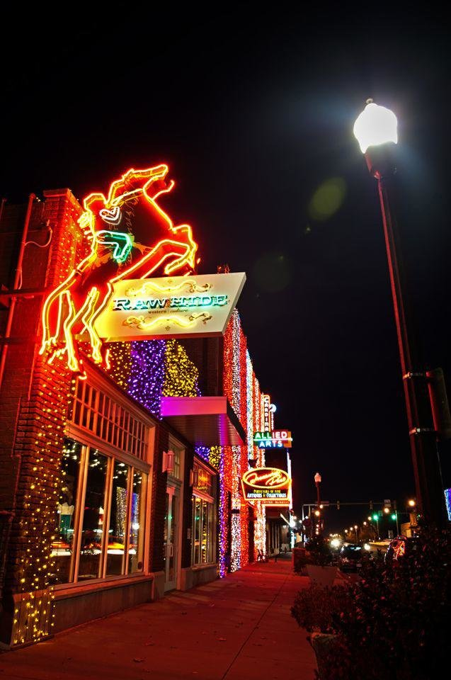 Photo - Part of Downtown in December, the Automobile Alley Lights on Broadway will be on view for free from Friday through Jan. 1. Photo provided.