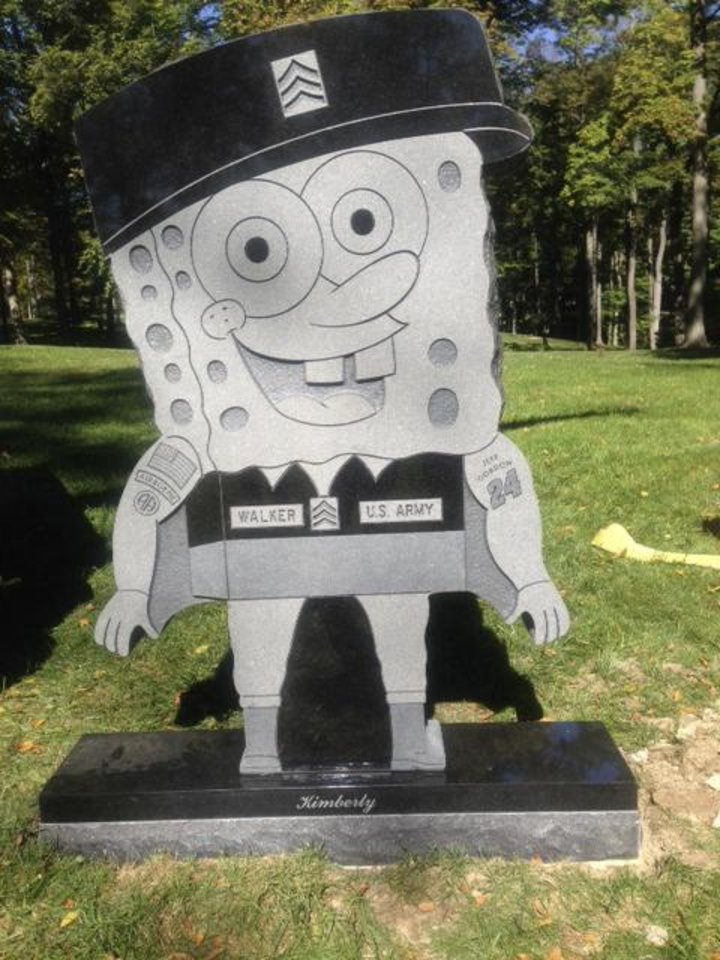Kimberly Walker�s gravestone is in the likeness of popular cartoon character SpongeBob SquarePants. AP Photo