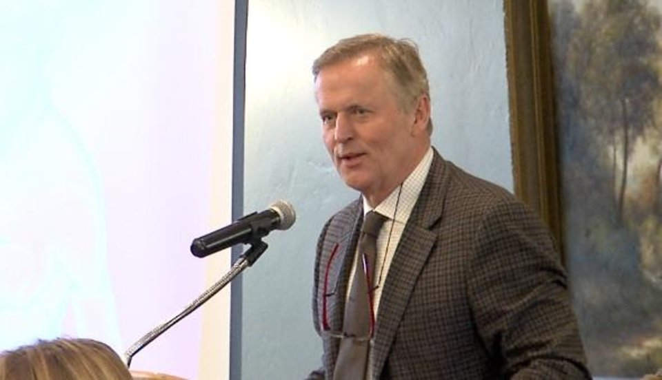 Photo - Author John Grisham spoke at a Focused Ultrasound Foundation event at the Oklahoma City Golf and Country Club on Thursday, April 12, 2018.