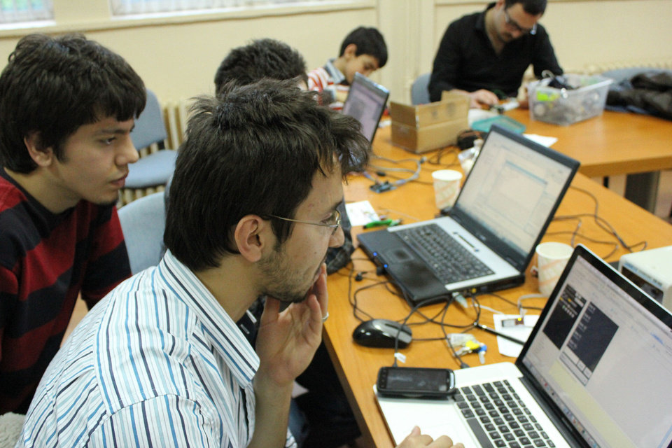 A team of programmers works at one of the locations during last year's International Space Apps Challenge. PHOTO PROVIDED. <strong></strong>