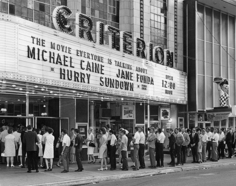 Photo - The Criterion Theater, shown in this 1968 photo from The Oklahoman Archives, remained a popular venue until downtown suffered a years-long demise in the 1970s.  OKLAHOMAN ARCHIVES PHOTO  FILE PHOTO 1968
