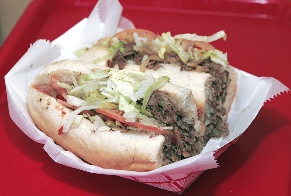 Hobby's Hoagies in Edmond and Oklahoma City offer a Philly cheesesteak sandwich. Photo by Steve Gooch, The Oklahoman