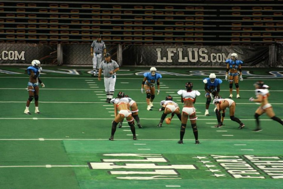 Photo - Photo of Orlando's lingerie football team. Used with permission of   OrlandoSentinel.com