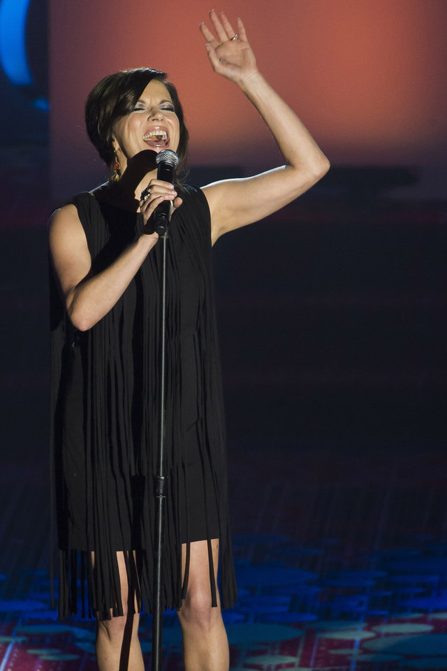 Photo - Martina McBride performs at the Songwriters Hall of Fame Awards on Thursday, June 12, 2014, in New York. (Photo by Charles Sykes/Invision/AP)