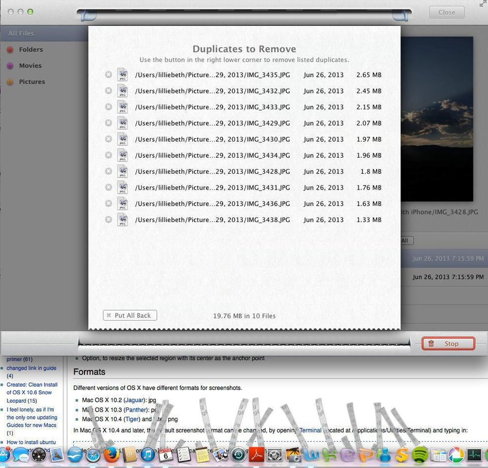 Photo - When you select duplicate files for removal, MacPaw by Gemini mimics a paper shredder as it deletes them, as seen in this screen shot.
