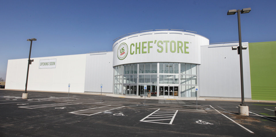 U.S. Foods' Chef'store recently opened in the former Ultimate Electronics location at 515 SW 74, along I-240. Photos by PAUL B. SOUTHERLAND, The Oklahoman