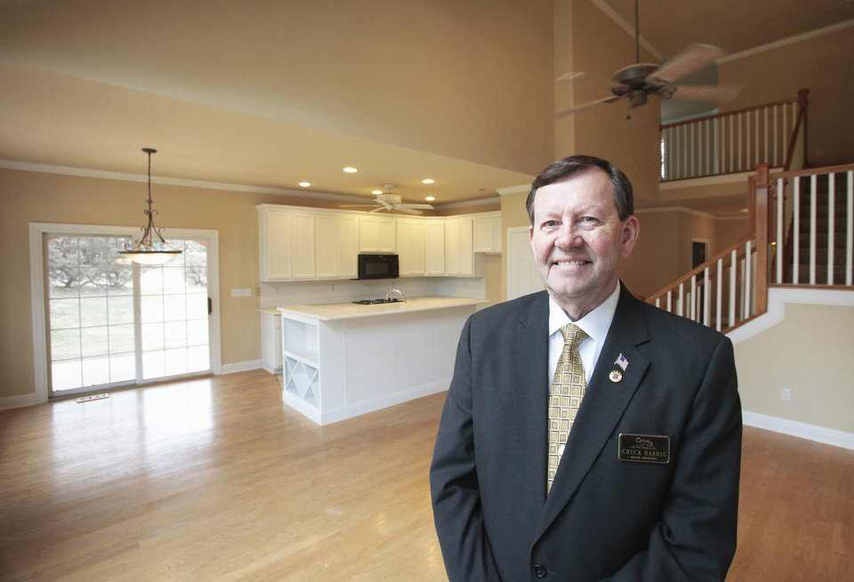 Chuck Harris of Century 21 All Pro Realty was named Realtor of the Year for 2012 by the Oklahoma City Metro Association of Realtors. He specializes in foreclosure sales. Here, he shows a foreclosed house at 8012 NE 140, listed for $330,000.  Photos by David McDaniel, The Oklahoman