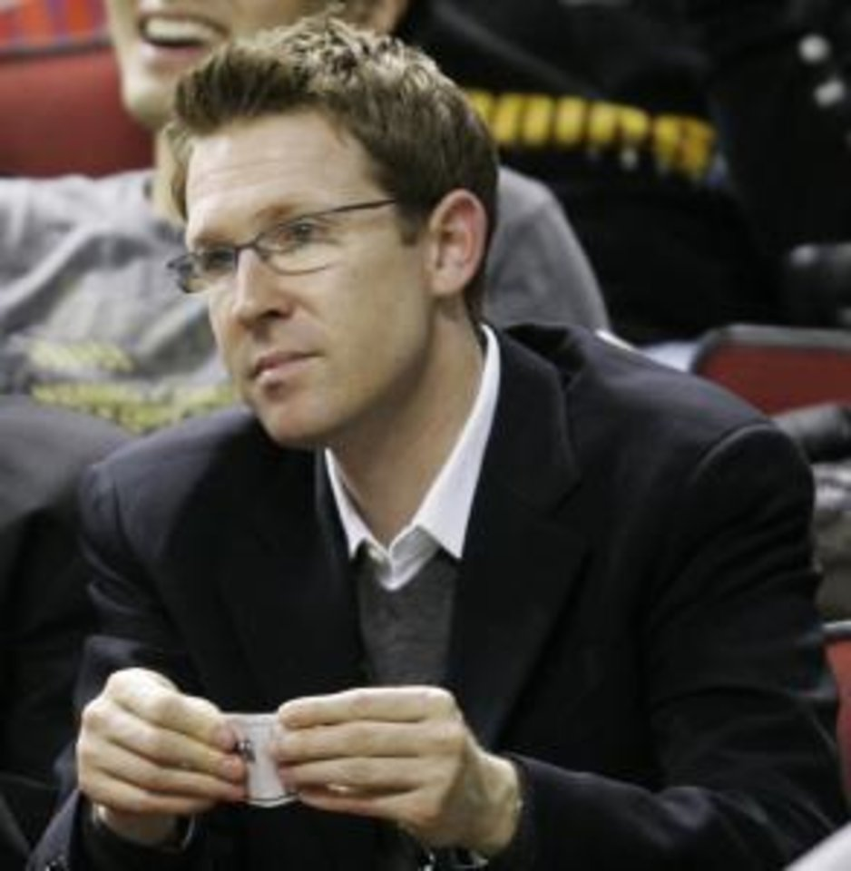 Photo -  Sam Presti in 2007, his first season as general manager for the Seattle SuperSonics.