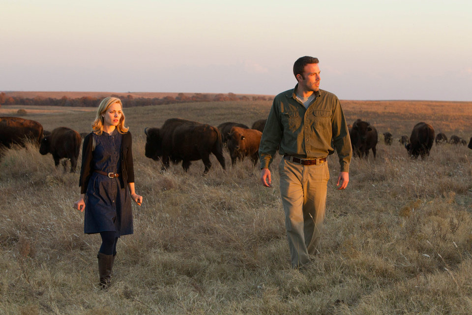 Photo - This undated photo provided by Magnolia Pictures shows Ben Affleck and Rachel McAdams in a scene from