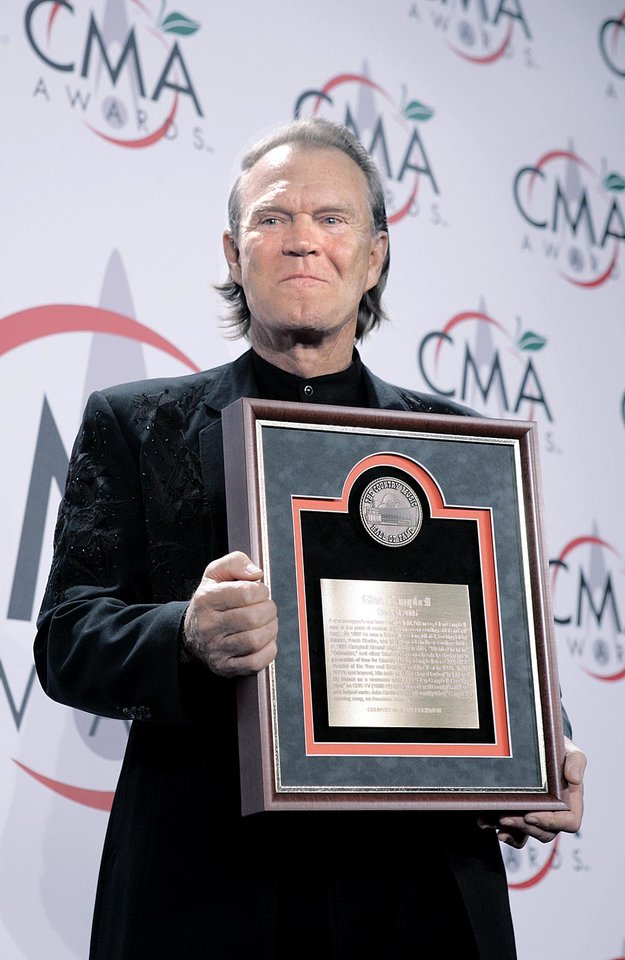 Photo - Country music star Glen Campbell has been diagnosed with Alzheimer's disease. AP photo