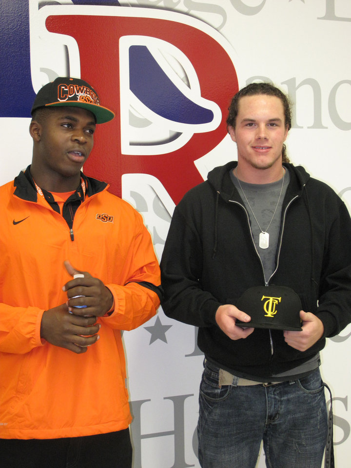 Jeremiah Tshimanga and Michael Knobloch. PHOTO BY GINA MIZELL, The Oklahoman <strong></strong>