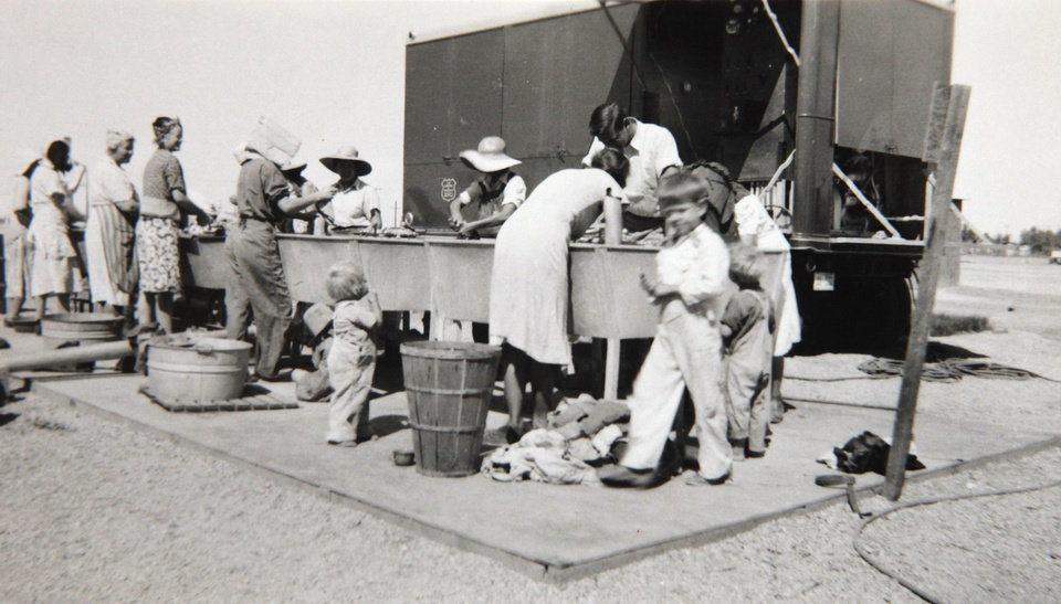 Photo of the camp that  Beatrice Warren worked in when she was a nurse at a migrant camp in California.  Photo Provided <strong>David McDaniel - The Oklahoman</strong>