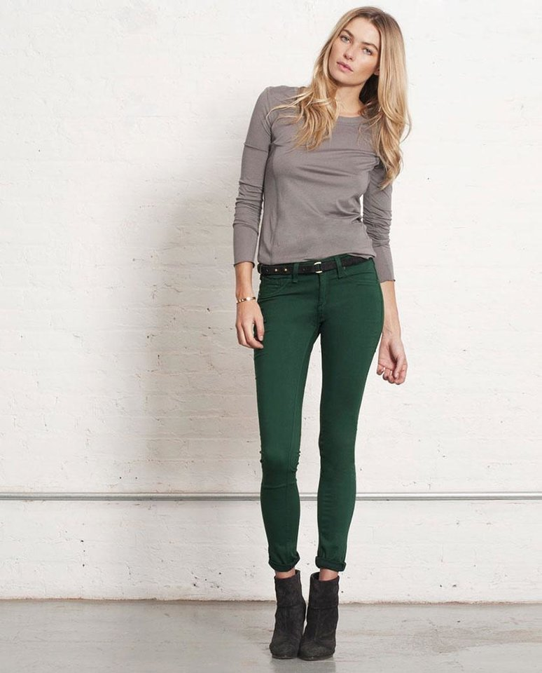 After color authority Pantone named emerald the official color of 2013, the green tone began popping up on runways and in stores everywhere. Here, Rag & Bone emerald legging, $187, Rag-Bone.com. (Courtesy Rag-Bone.com via Los Angeles Times/MCT)