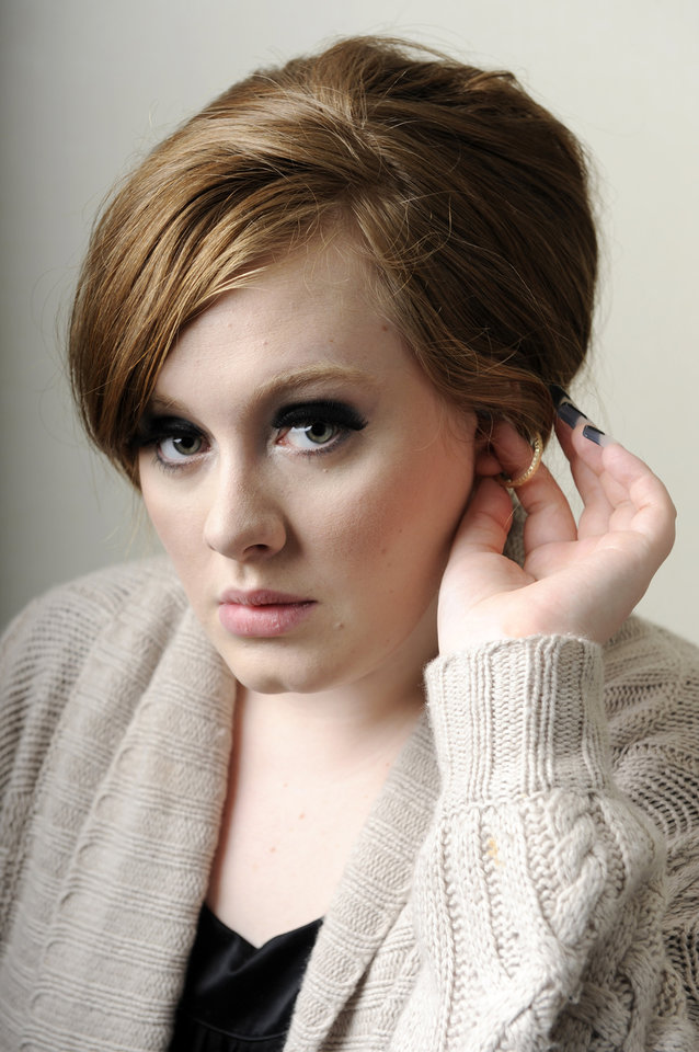 FILE - In this Feb. 2, 2009 file photo. British singer-songwriter Adele poses for a portrait in West Hollywood, Calif. (AP Photo/Chris Pizzello, File)