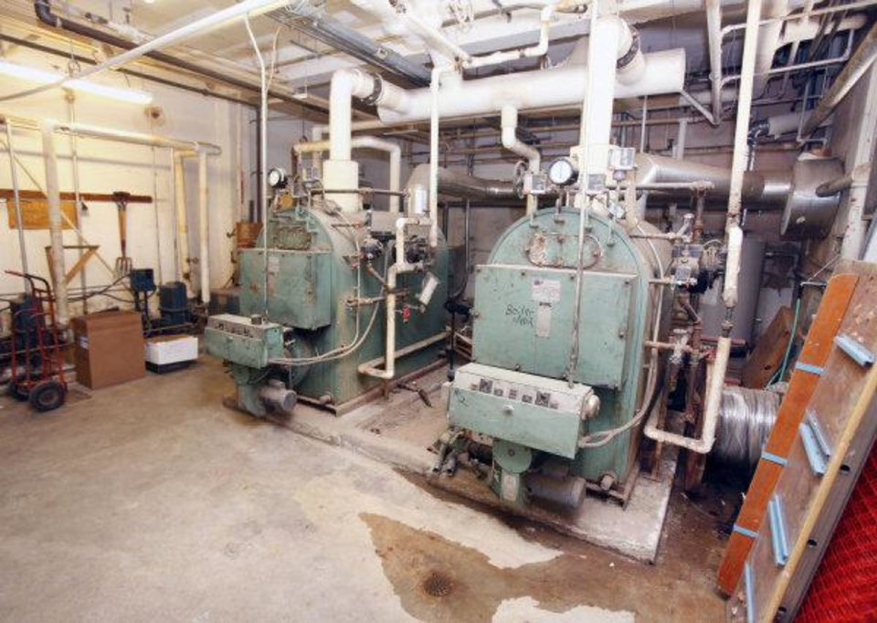 Photo - This is the boiler room at Emerson High School in Oklahoma City, OK, Tuesday, May 24, 2011. By Paul Hellstern, The Oklahoman ORG XMIT: KOD