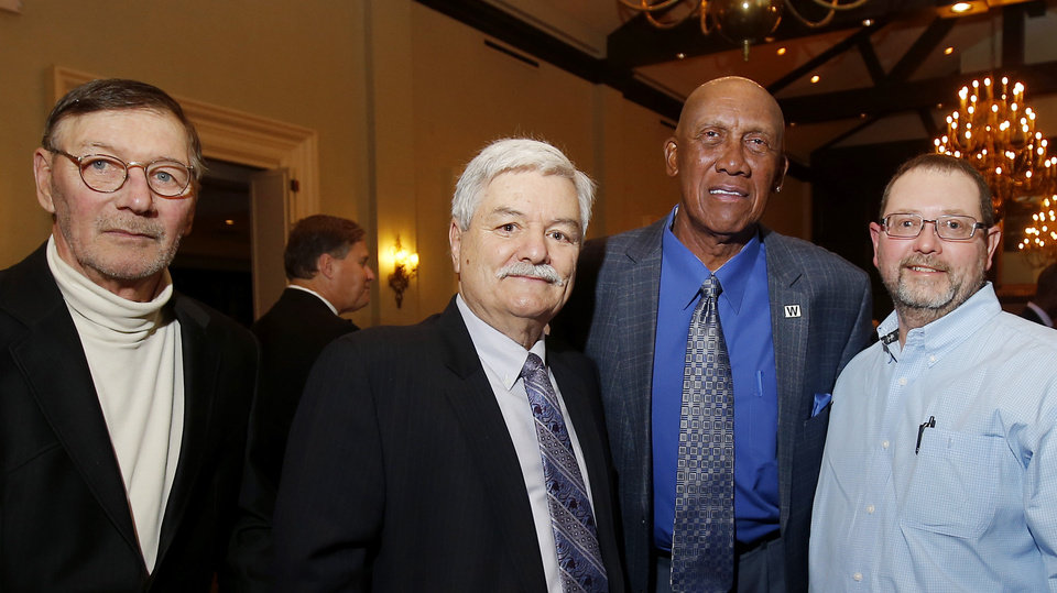 Photo - Robert Badell, Carl Kovacs, Ferguson Jenkins, Johnny Royal. PHOTO BY BRYAN TERRY, THE OKLAHOMAN