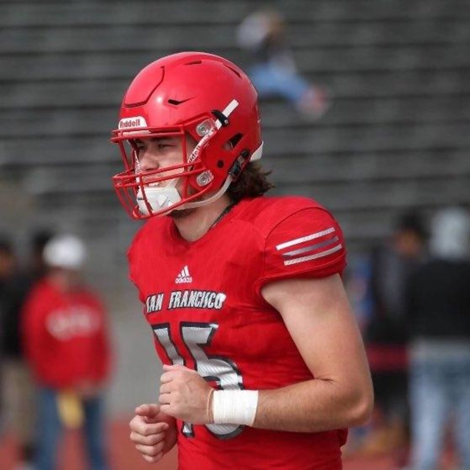 Photo -  Oklahoma State hosted San Francisco City College quarterback Ethan Bullock over the weekend. [Photo provided]