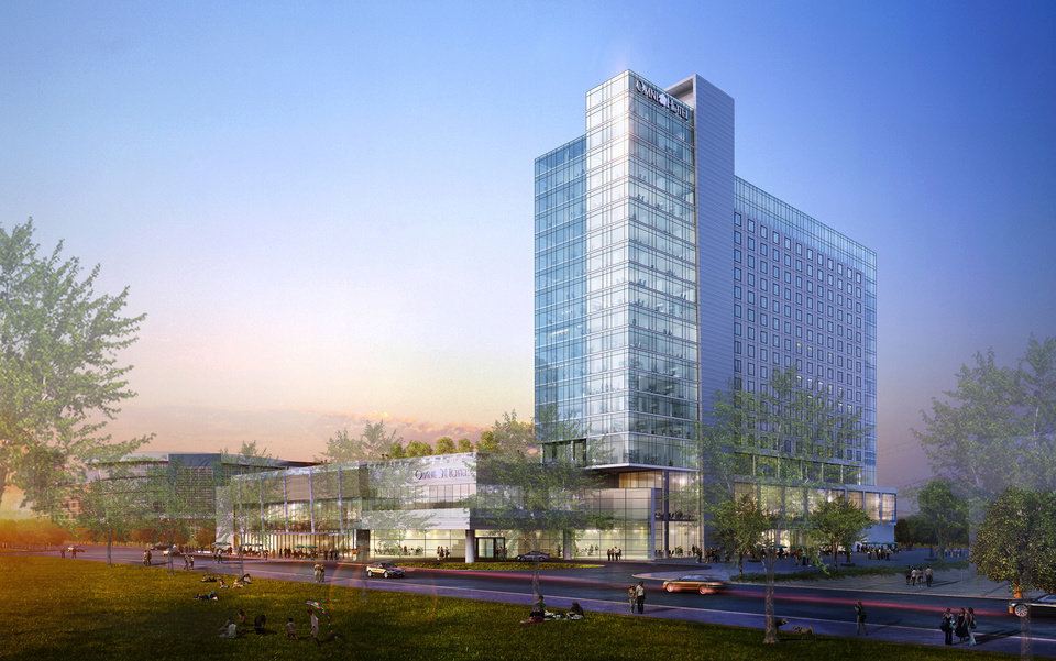 Photo -  Conceptual designs for a 19-story Omni hotel were presented late last year to Oklahoma City officials. Negotiations with Omni have concluded, and a proposed agreement will be considered Tuesday by the Oklahoma City Council. [Image provided]