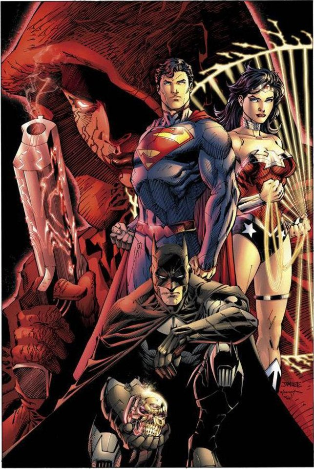 Photo - The Jim Lee-drawn cover to DC Comics'