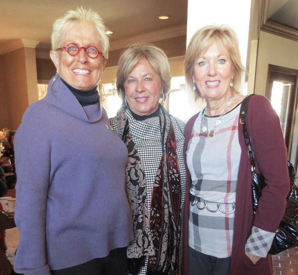 Photo - Judi Freyer, Jane Austin, Anne McCurdy. PHOTO BY HELEN FORD WALLACE, THE OKLAHOMAN