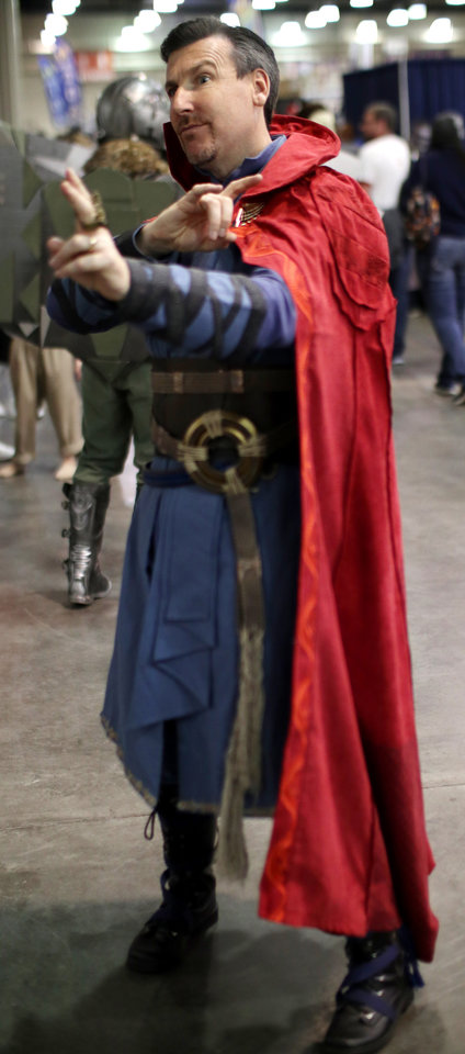 Photo - Ryan McKinley, Edmond, during Wizard World Comic Con at the Cox Convention Center Saturday, October 28, 2017. Photo by Doug Hoke, The Oklahoman